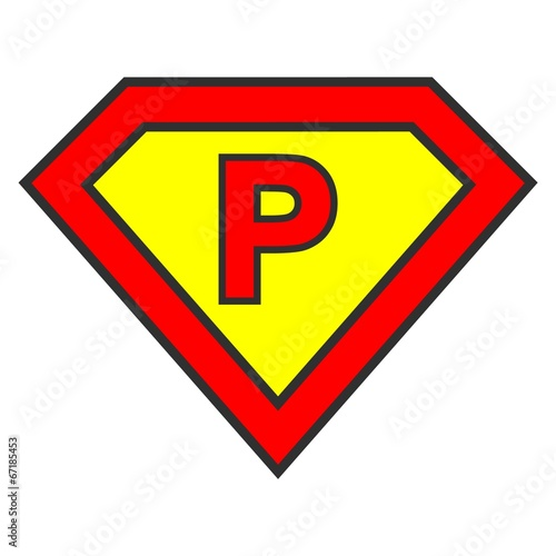 Cyrillic Alphabet Letter In Superman Logo Style Stock Image And
