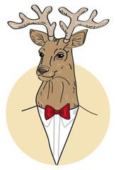 vector portrait of deer