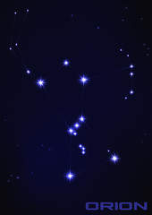 Vector illustration of Orion star constellation