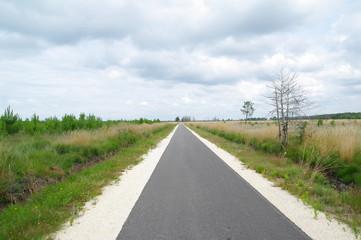 Fahrradweg in Lacanau Ozean 9