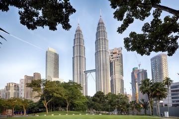 Poster Kuala Lumpur KLCC Park at early morning in Kuala Lumpur, Malaysia