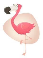 flamingo cartoon lustig vektor pink