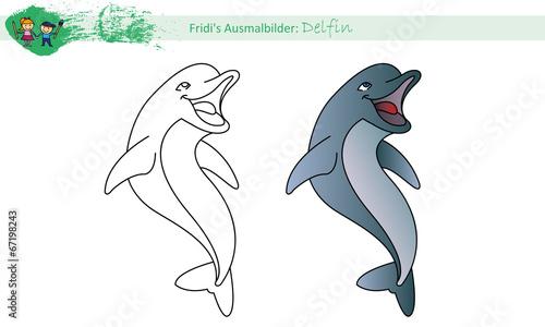 Ausmalbild Delfin Stockfotos Und Lizenzfreie Vektoren Auf