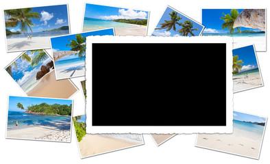 fond noir pour photos des Seychelles