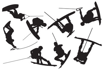 silhouette wakeboarding
