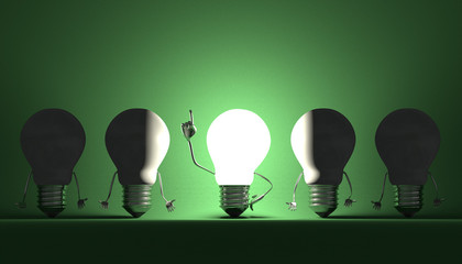 Light bulbs, moment of insight on green