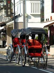 Printed roller blinds Beijing rickshaw