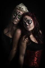 Sugar Skull, zwei Frauen
