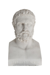 Isolated bust of Periandros (died in 583 before Christ) - replic