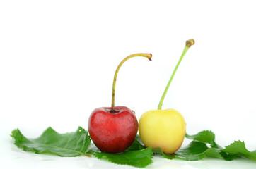 Obraz świeże owoce na białym tle - fototapety do salonu