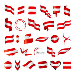 biggest collection of vector flag of Austria