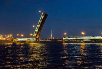 Bridge in the city of St. Petersburg, Russia