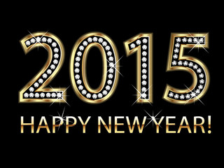 Happy new year 2015 background vector