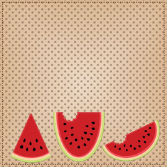 Group of three slices of watermelon