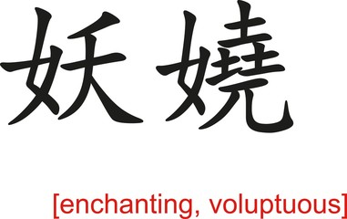 Chinese Sign for enchanting, voluptuous