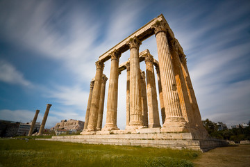 Temple of Zeus in Athens.
