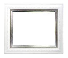White frame. Isolated over white background