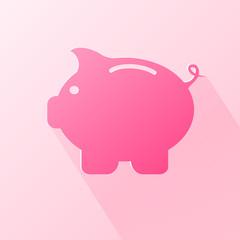 Flat moneybox