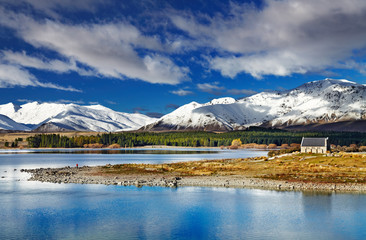 Wall Murals New Zealand Lake Tekapo, New Zealand