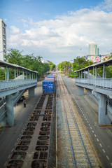 Trains, one type of transportation in Thailand