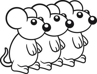3 Mäuse Team Freunde Crew
