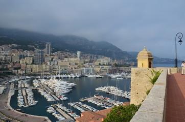 Port de Monaco vue du palais