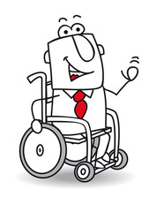 Handicapped businessman