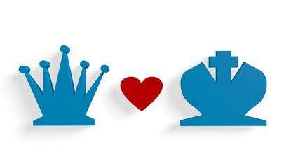 chess king and queen relationship metaphor