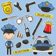 Police Officer With Tools