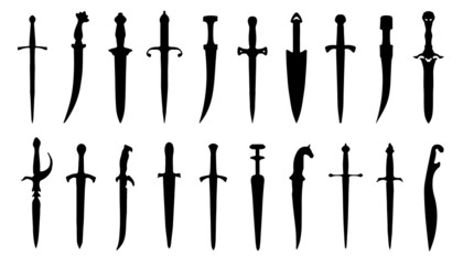 dagger silhouettes