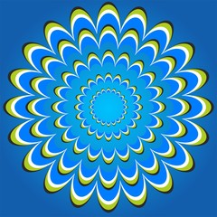 optical illusion flower circles