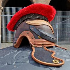 Roman war helmet gladiator, Italy