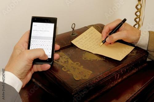Briefe Schreiben Heute : Quot schreiben früher und heute smartphone gegen post brief