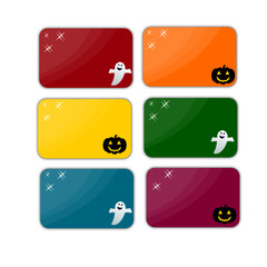 Raccolta banner di halloween