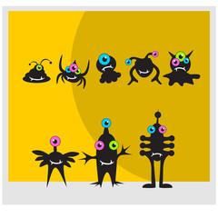 black cute monster