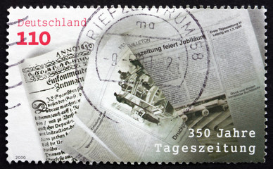 Postage stamp Germany 2000 First Daily Newspaper