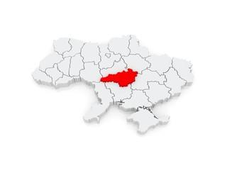 Map of Kirovohrad region. Ukraine.