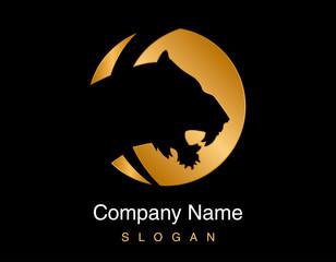 Gold tiger logo