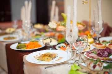 Festive table.Festive table.