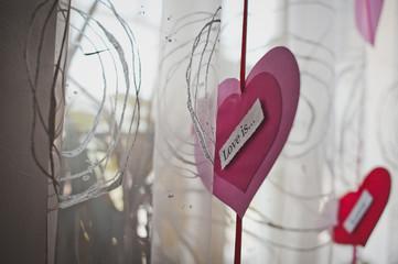 Hearts and curtains.Hearts and curtains.Hearts and curtains.