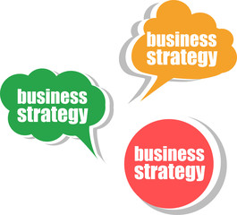 business strategy. Set of stickers, labels, tags