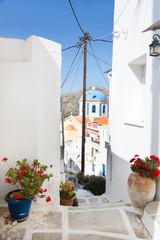 Fototapete - Architektur auf der Insel Serifos auf den Cycladen.