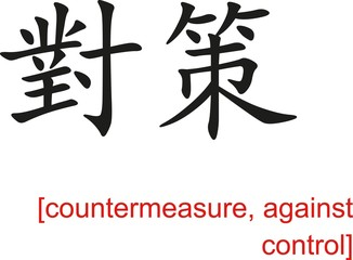 Chinese Sign for countermeasure, against control