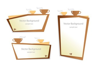 vector coffee background graphic