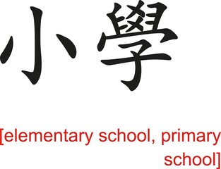 Chinese Sign for elementary school, primary school