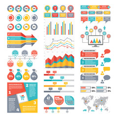 Set of Infographic Elements - Vector Business Collection