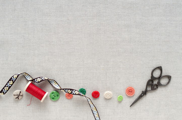 裁縫道具 ソーイング 手芸 背景素材