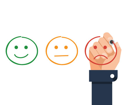 Business rating concept - Flat Vector