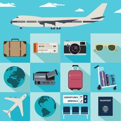 Flat travel illustrations