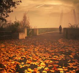 Уходящая осень, стилизация